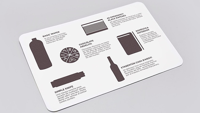 Just In Case: End of the World Survival Kit, designed by Menosunocerouno, Mexico.