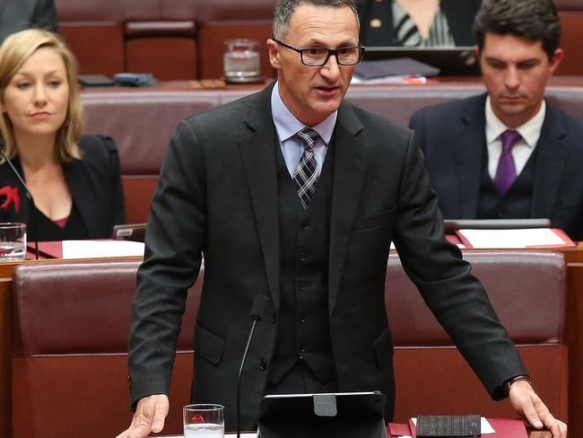 Greens leader Richard Di Natale has backed calls for an overhaul of the expense claims system. Picture Kym Smith