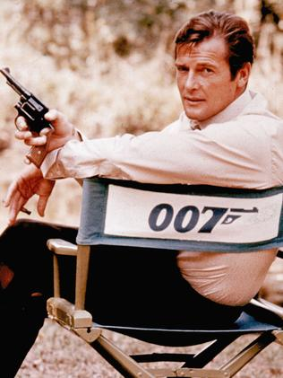 Roger Moore was the third James Bond. Picture: AP
