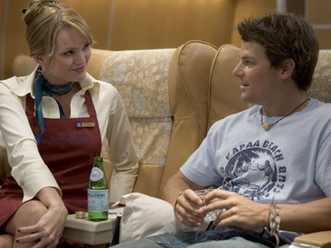 Phillips, here with Sunny Mabrey, followed his  <i>Wolf Creek </i>role with  <i>Snakes on a Plane</i>.