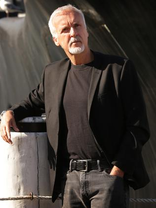 James Cameron poses at Sydney Maritime Museum ahead of the launch of Deepsea Challenge 3D. Picture: News Corp Australia