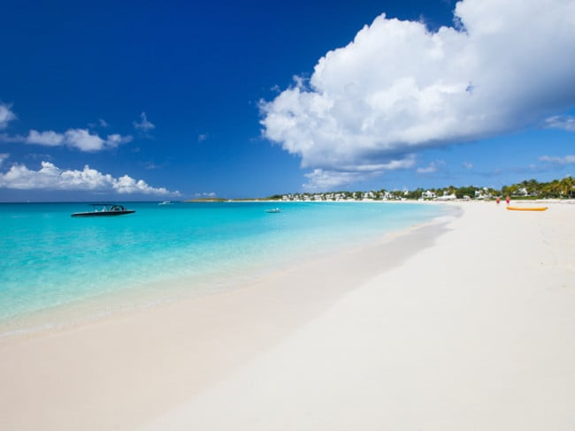 Grace Bay Beach in Turks and Caicos, a British Overseas Territory in the Caribbean, was ranked the world's best beach.