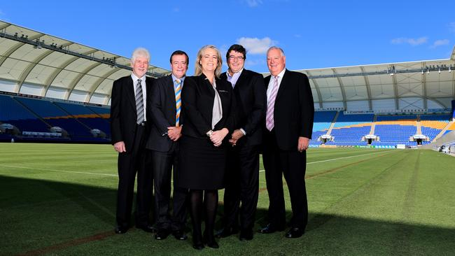Titans' board of directors, (L-R) Front Chair Rebecca Frizelle (L-R) Back Darryl Kelly, Graham Annesley, Michael Searle and Paul Donovan.