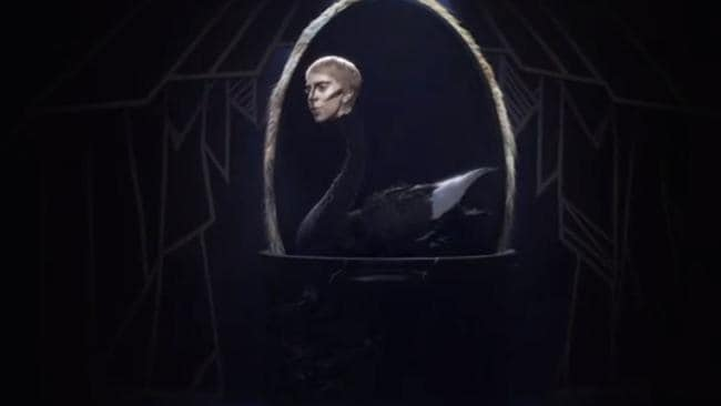 Lady Gaga hatches into a Black Swan in Applause video. Picture: Lady Gaga/Vevo