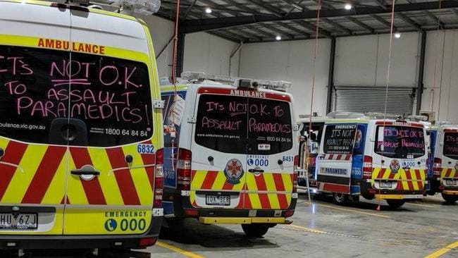 Messages written on the back of ambulances following the court ruling.