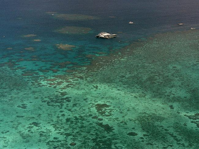 The Great Barrier Reef faces a long list of challenges that pose threats to its health, from coral bleaching to farming and mining activity. Picture: AP