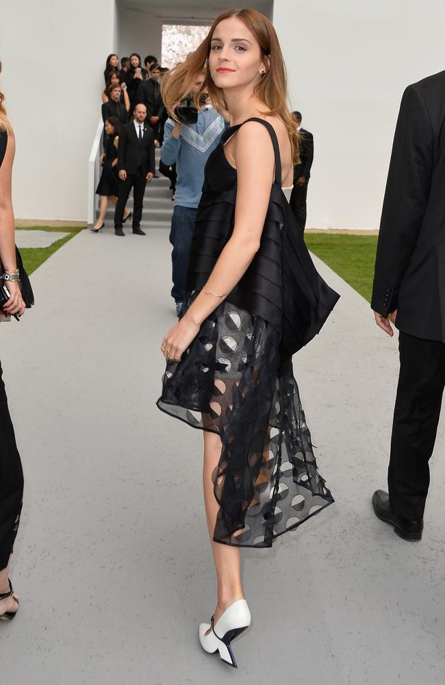 Emma Watson attends the Christian Dior show as part of Paris Fashion Week. Photo by Pascal Le Segretain