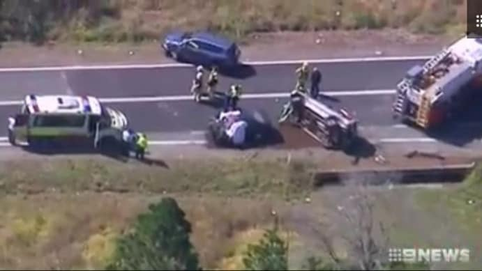 An elderly couple has died in a road accident in Logan.