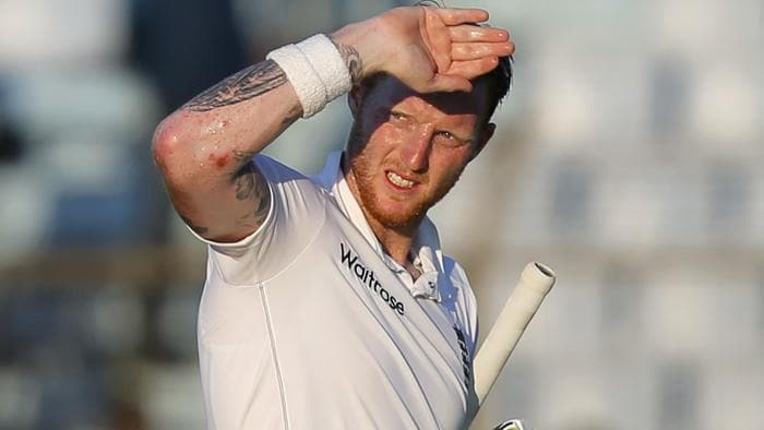 England's Ben Stokes walks back to the pavilion after his dismissal by Bangladesh's Shakib Al during the third day of their first cricket test match in Chittagong, Bangladesh, Saturday, Oct. 22, 2016. (AP Photo/A.M. Ahad)