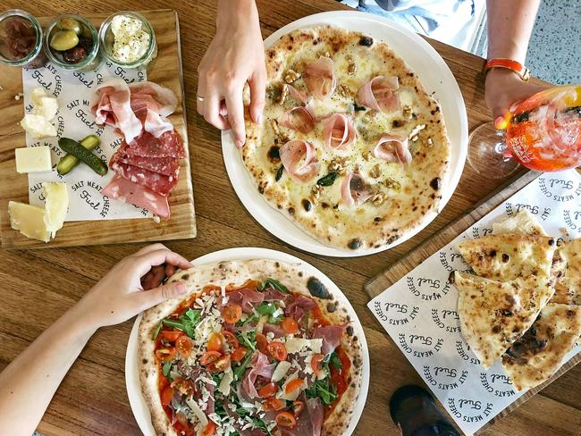 Salt Meats Cheese's pizzas and antipasto