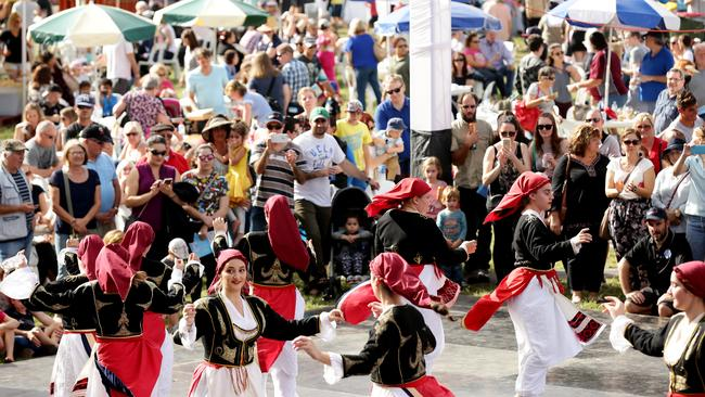 Cypriot dancers entertain the crowds at Panyiri. Picture: Mark Calleja