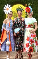 Racegoers pose on Emirates Melbourne Cup Day at Flemington Racecourse on November 1, 2016 in Melbourne, Australia. Picture: Mark Metcalfe/Getty Images for the VRC