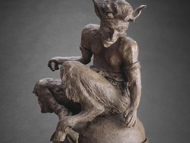The forger's bogus Paul Gaugin sculpture 'The Faun' was displayed as part of a definitive collection of the French master's works at the Art Institute of Chicago.