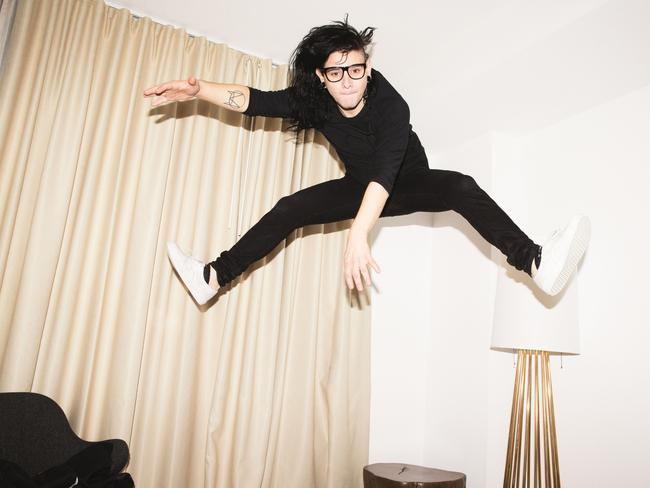 On a high ... DJ Skrillex loves experimenting with different artists. Picture: Supplied