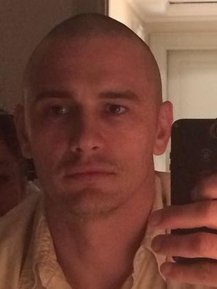 James Franco without hair. Picture: Instagram