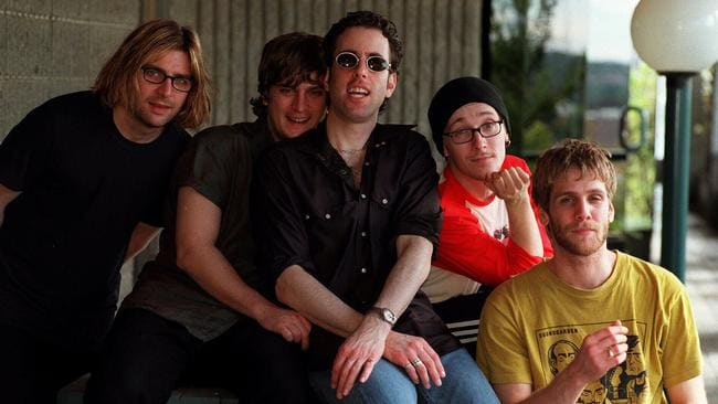 """Matchbox Twenty in Sydney in 1998 ... Looking back, Thomas says he can """"understand why some people wouldn't like us"""" Picture: Pip Blackwood"""