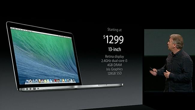 The MacBook Pro starts at $1299.