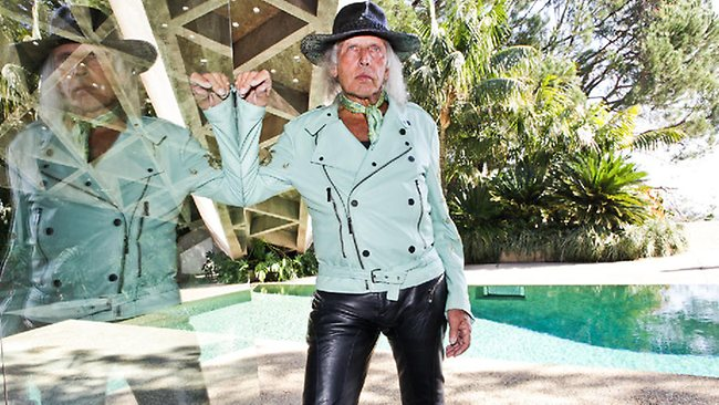 Jimmy Goldstein at his house in Los Angeles.