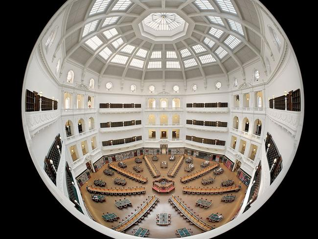 The domed reading room also offers free wi-fi. Picture: John Gollings
