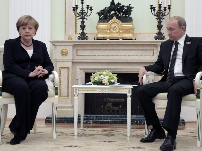 "Putin described his relationship with his German counterpart as ""business-like""."