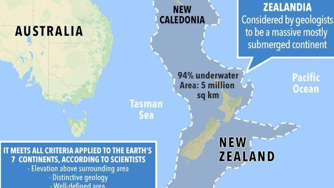 Scientists are searching for the lost continent of Zealandia off the east coast of Australia.
