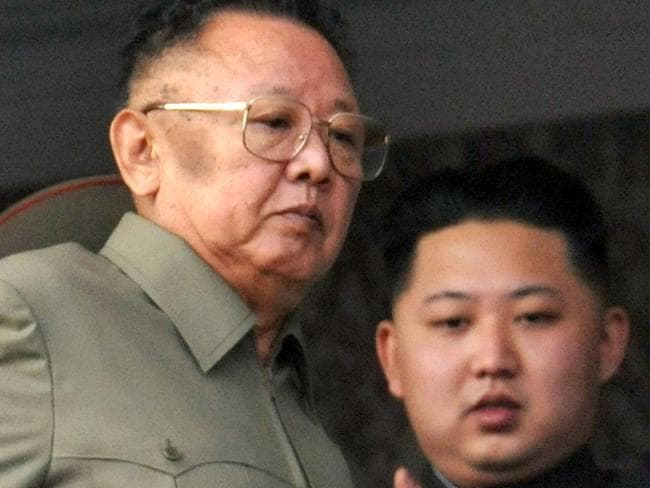 Kim Jong Il, left, was succeeded by his son Kim Jong Un after he died in 2011. Picture: AP