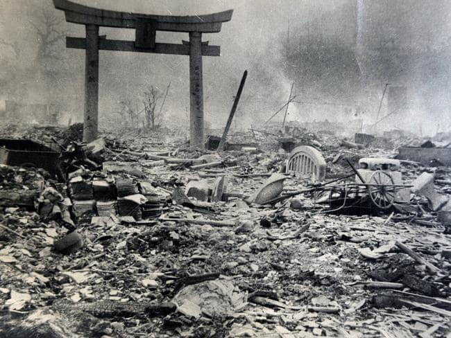 Devastated ... The atomic bombings of Hiroshima and Nagasaki in 1945 killed more than 130,000 people and remain, to date, the only use of nuclear weapons in history. Picture: Bill Hughes