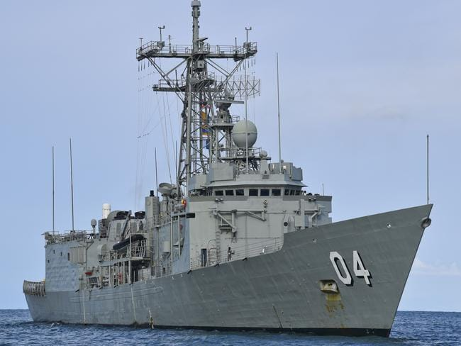 The State Government is pushing to have the HMAS Darwin scuttled off the state's East Coast. Picture: AAP