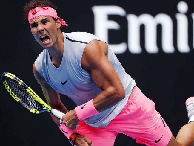 Rafael Nadal bounced back in the third.