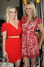 Fifi Box (L) and Charlotte Dawson at the Insider Christmas Lunch at Balla, The Star, Pyrmont, Sydney. Picture: Richard Dobson