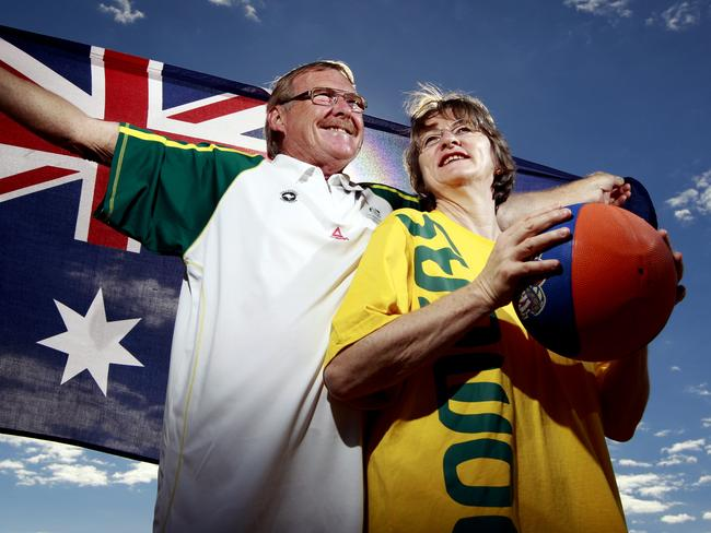 Baynes' parents Marton and Barbara couldn't be more Australian.