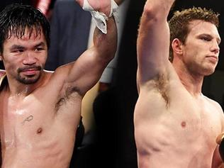 SUPERFIGHT: Manny Pacquiao and Jeff Horn.