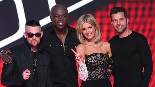 This year's Voice coaches Joel Madden, Seal, Delta Goodrem, Ricky Martin. Picture: Supplied