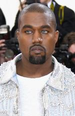 "Ol' blue eyes... Kanye West ttends the ""Manus x Machina: Fashion In An Age Of Technology"" Costume Institute Gala at Metropolitan Museum of Art on May 2, 2016 in New York City. Picture: Larry Busacca/Getty Images"
