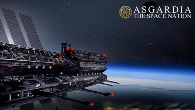 An artist's impression Asgardia's orbiting space station.