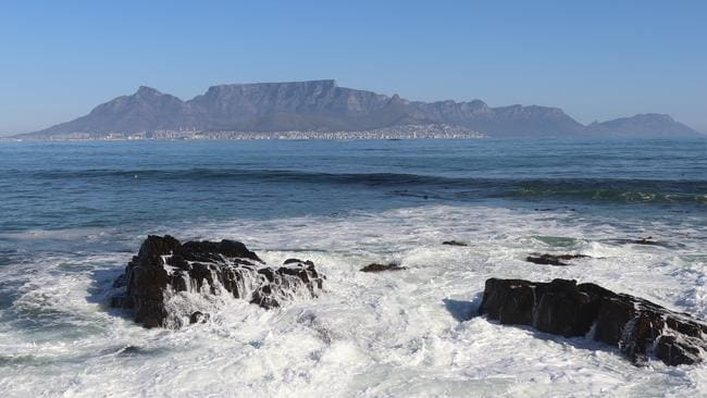 The view of Table Mountain on Cape Town's mainland from Robben Island, South Africa. Picture: Megan Palin.