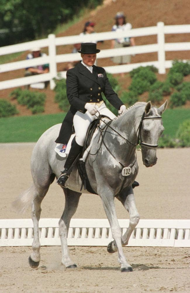 Gillian Rolton riding Peppermint Grove in competition at Georgia International Horse Park, Atlanta in 1996.