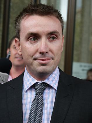 James Ashby leaves the Federal Court in Sydney during his case against his former employer Peter Slipper.