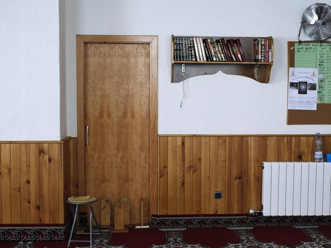 Inside the mosque of the Annour muslim community in Ripoll. Picture: AFP