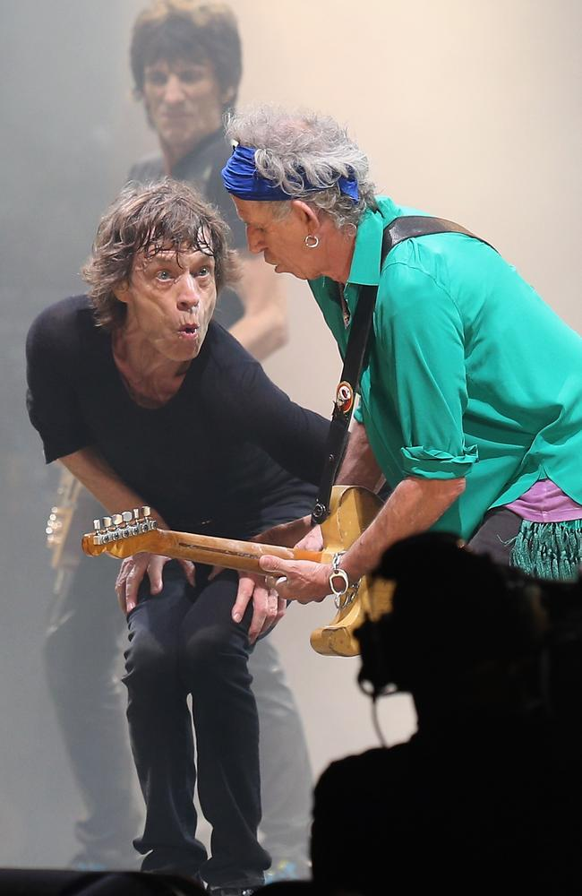 Still lots of passion ... Mick and Keith perform at the Glastonbury Festival 2013. Picture: Matt Cardy/Getty Images)