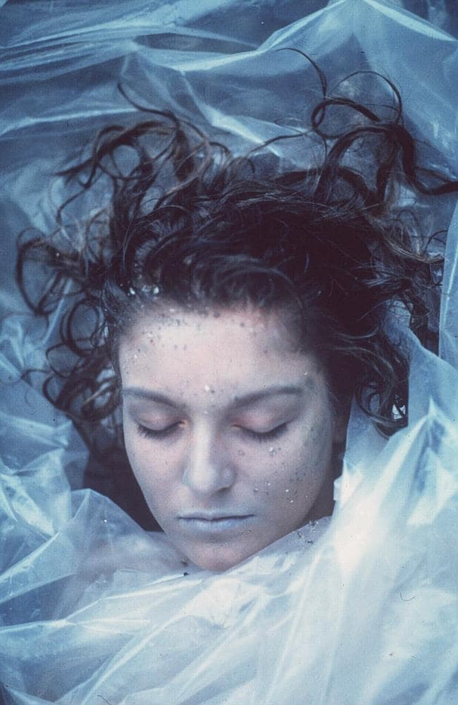 Celebrated drama ... Cheryl Lee as Laura Palmer was found wrapped in plastic in Twin Peak