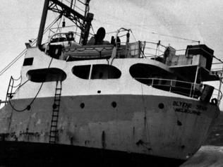 The Blythe Star had previously run aground off the West Australian coast near Freemantle