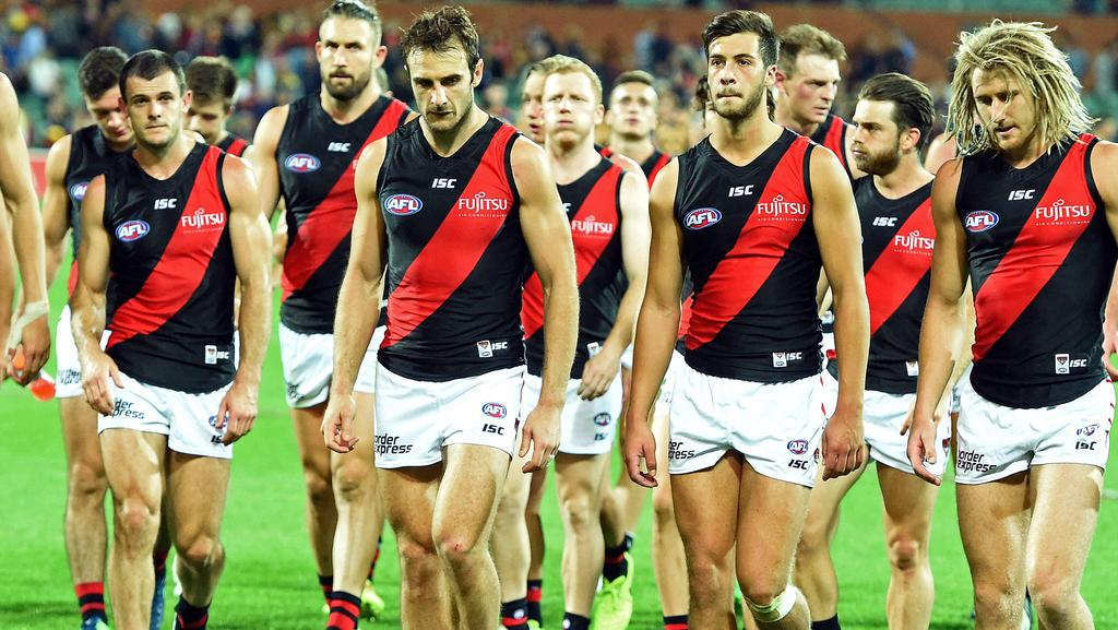 Essendon players have hit the wall according to coach John Worsfold. Picture: Tom Huntley