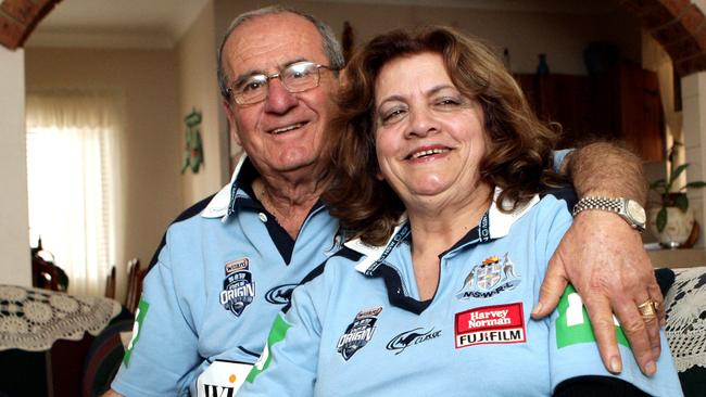 Robbie Farah's proud parents Peter and Sonia celebrate his initial NSW selection in 2009.