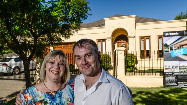 Jodieann Dawe and Njal Venning are looking forward to movingi into their new home in Magill. Picture: AAP/ Roy Vandervegt