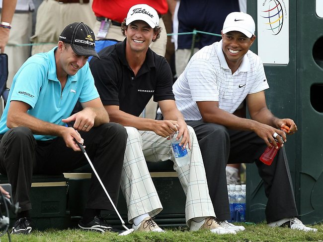 adam scott and tiger woods and geoff ogilvy