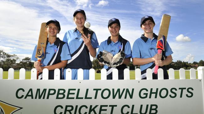 Lauren Cheatle (second left) captained NSW's U15 side last year.
