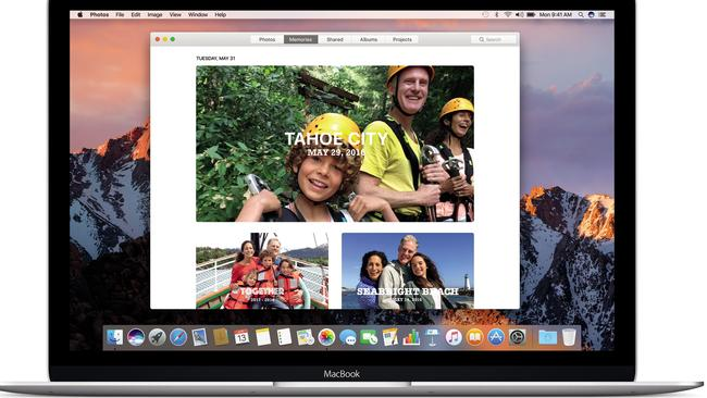 Mac OS Sierra: The new Photos app automatically combines photos and videos on a theme in the Memories section