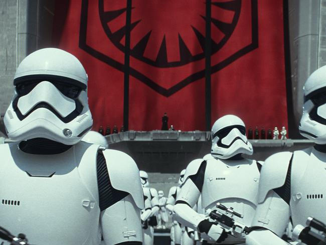 It's a new world order ... Stormtroopers rule the galaxy. Picture: Film Frame / Lucasfilm via AP