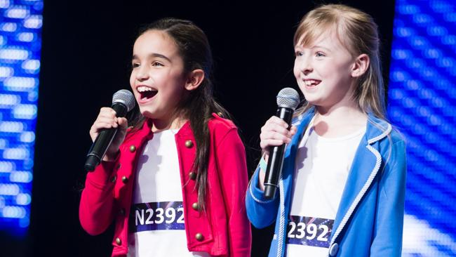 Sydney 10-year-olds Natalie and Julia are through to the finals. Picture: Supplied.